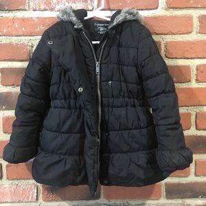 Calvin Klein Black Puffer Coat 5T